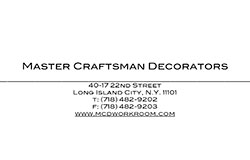 Master Craftsman Decorators Upholstery & Window Treatments  New York City