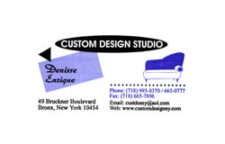 Custom Design Studio Upholstery & Window Treatments  New York City